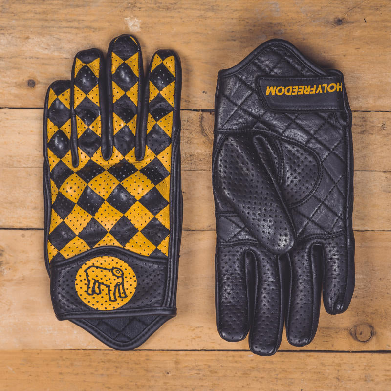 Holy Freedom Bullit Gloves Black and Yellow