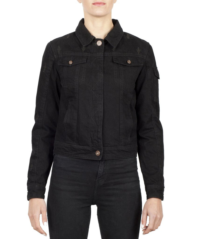 Black Arrow Nowhere Bound Ladies Denim Motorcycle Jacket