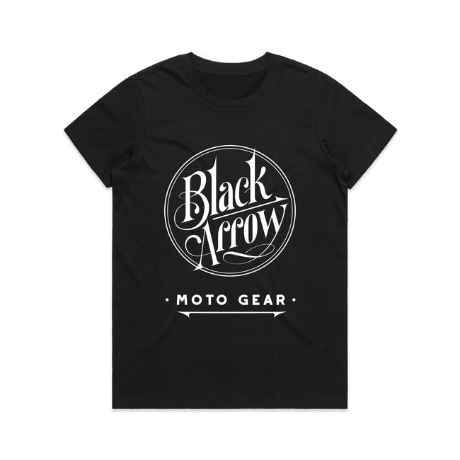 Black Arrow Ladies Logo Motorcycle T'Shirt