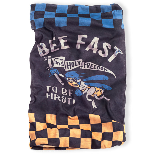 Holy Freedom Bee Fast retro style motorcycle bandana tube