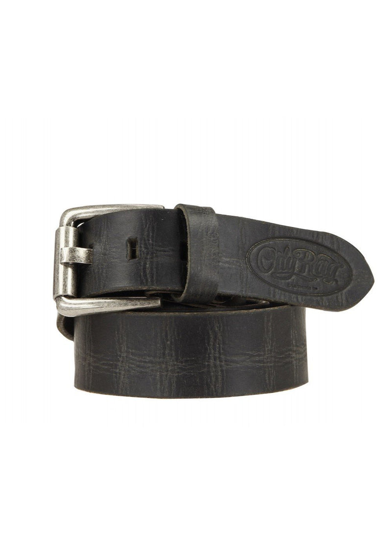 Oily Rag Clothing black leather belt in Oil
