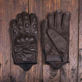 Holy Freedom Bullit brown check motorcycle gloves