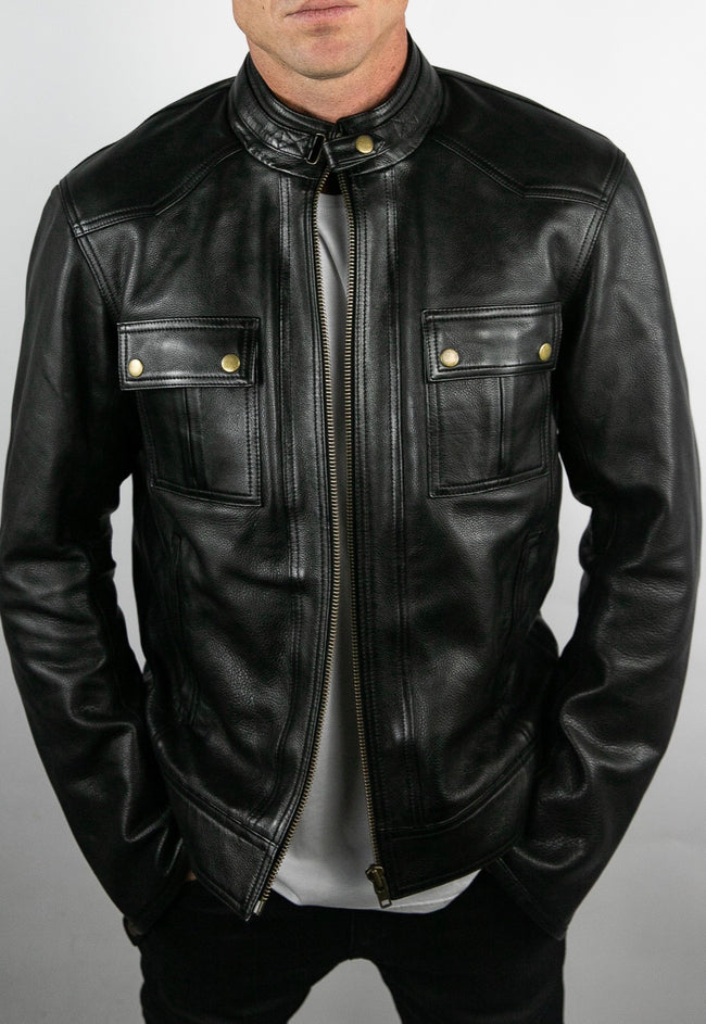 Blackbird Motorcycle Wear Duke Men's Leather Jacket