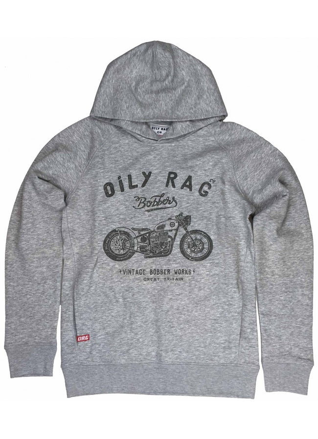 Oily Rag Clothing Unisex Bobber Works Black Label Hoodie