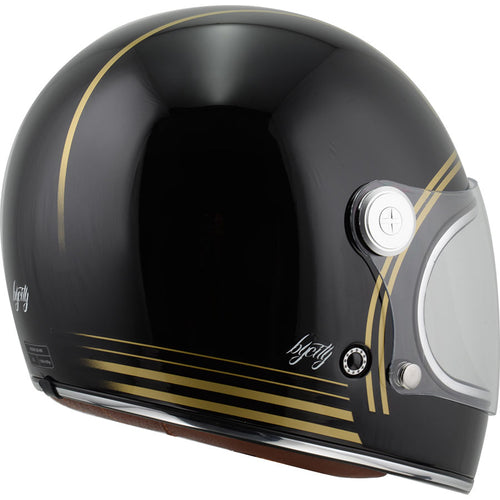 By City Roadster Gold Black Full Face Composite Retro Motorcycle Helmet