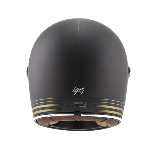 By City Roadster Carbon Fibre Full Face Retro Motorcycle Helmet