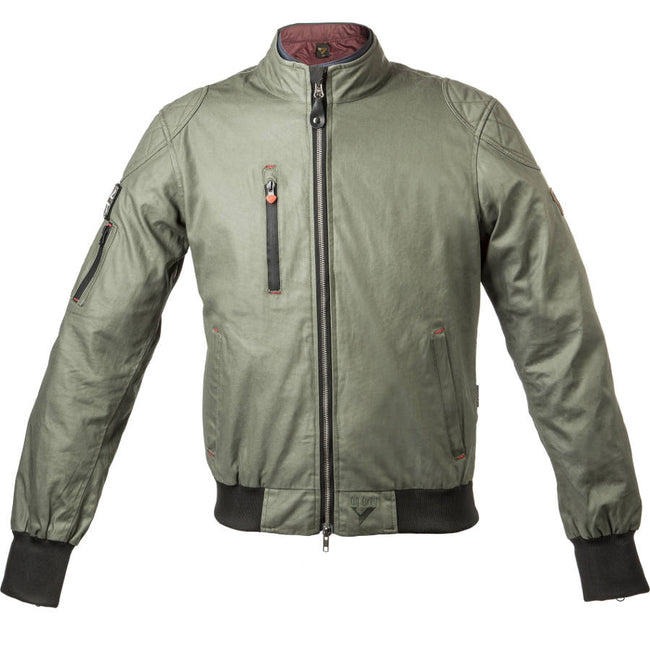 By City Mens Sport II Waxed Cotton Textile Motorcycle Jacket