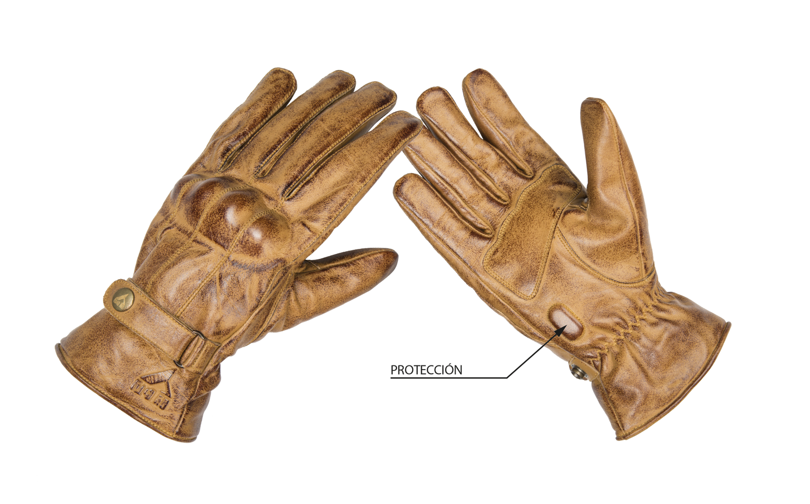 By City Mens Elegant Leather Motorcycle Glove