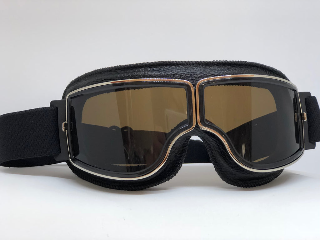 Blackbird Black Goggles with Tinted Lenses for Motorcycle