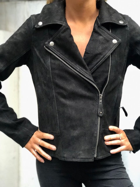 Blackbird Ladies Festival Fringe Leather Motorcycle Jacket