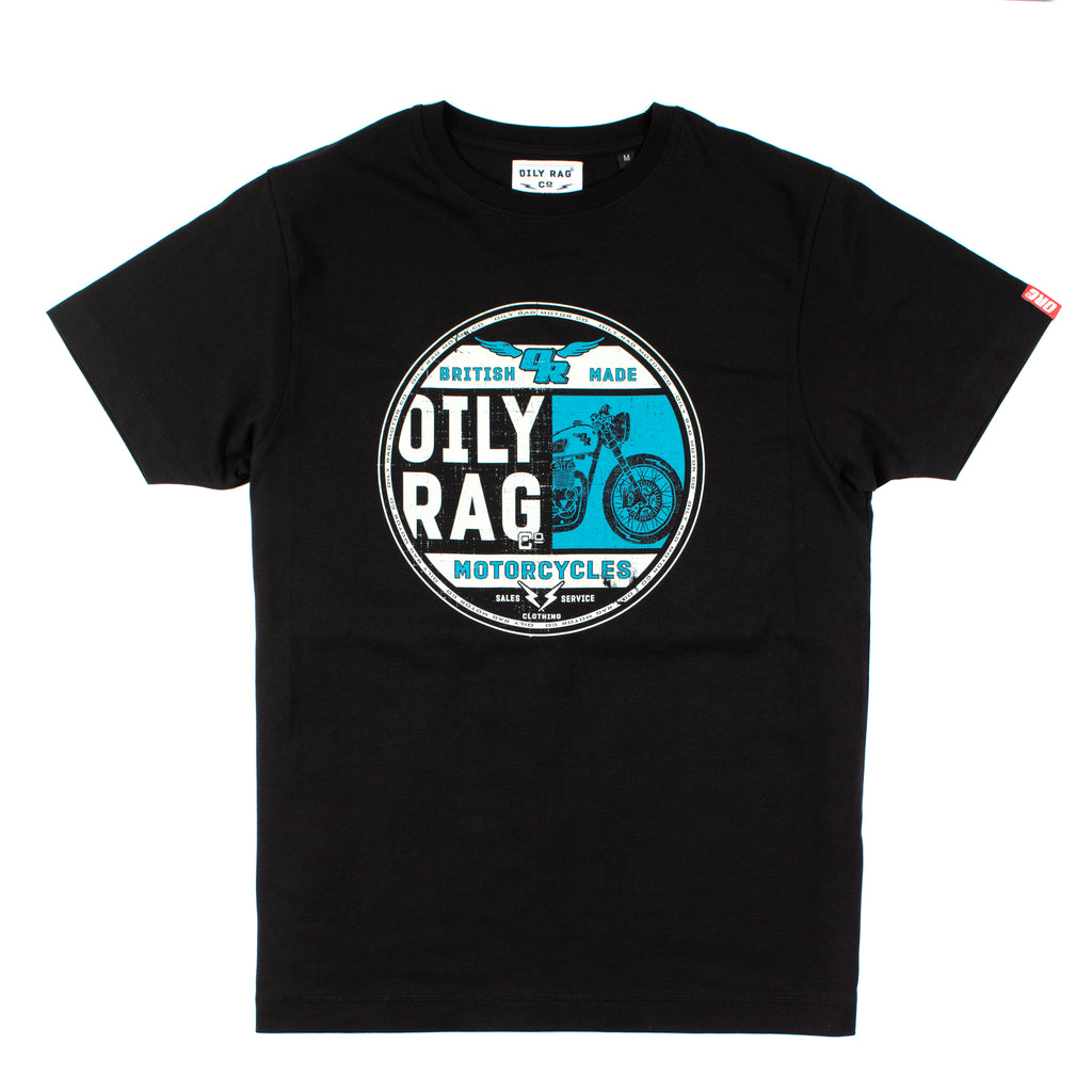 Oily Rag Clothing Black Label British Made t'shirt design