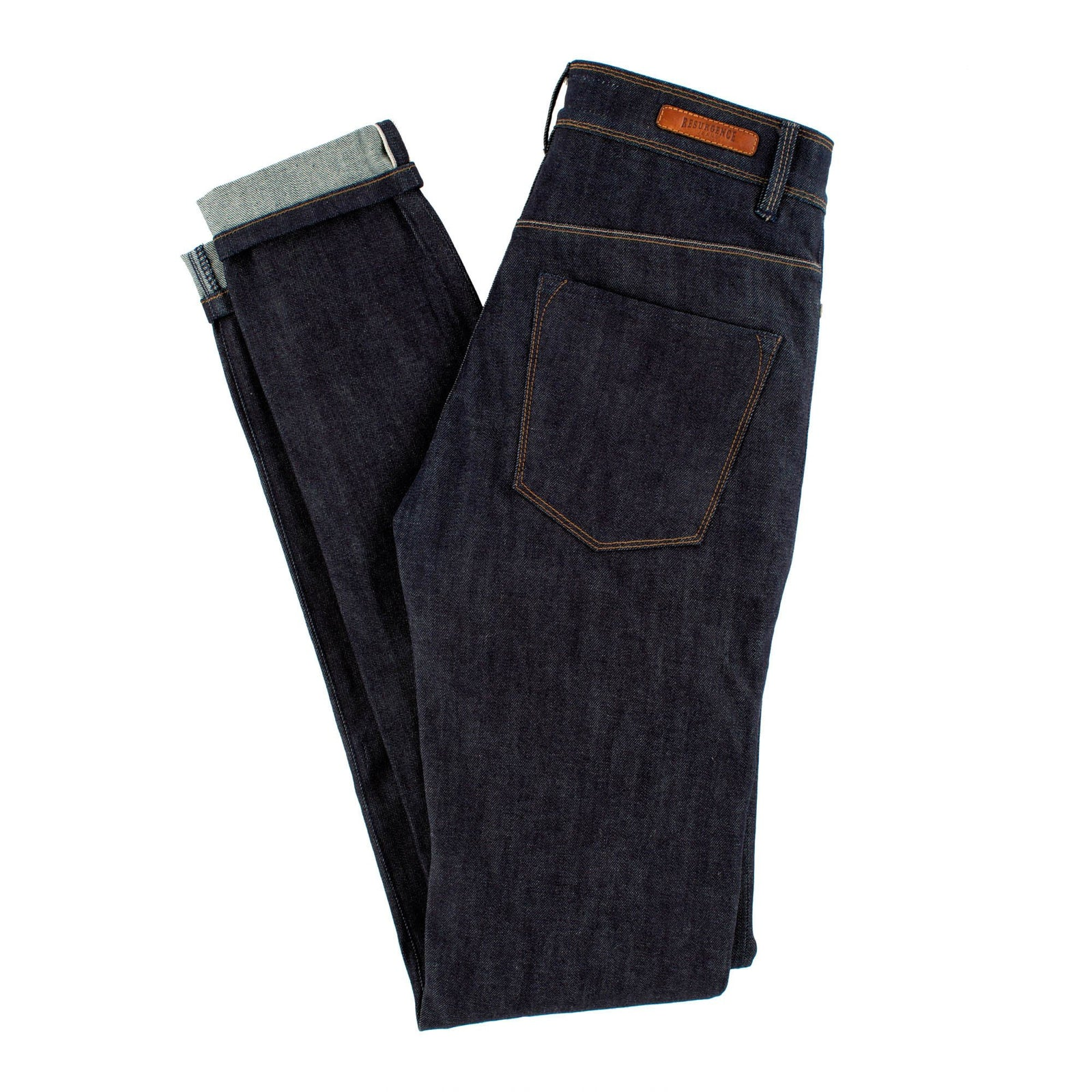 Resurgence Gear® Cafe Racer Ladies Raw Selvedge Protective Motorcycle Jeans
