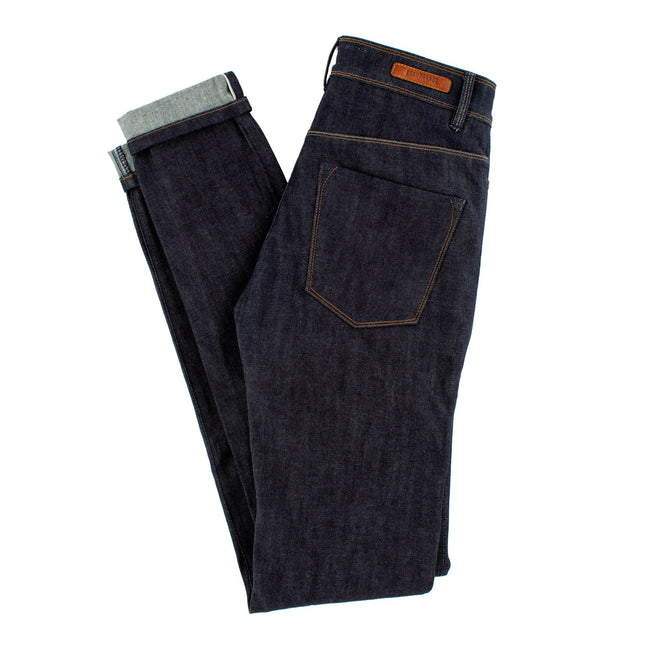 Resurgence Gear Ladies Cafe Racer Selvedge motorbike jeans, safer alternative to Kevlar jeans