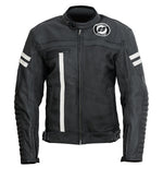 Garibaldi Mens Vintage Moka Racer Leather Motorcycle Jacket