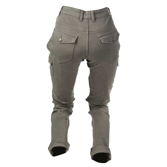 By City Ladies Mixed Cargo Kevlar Motorcycle Pants