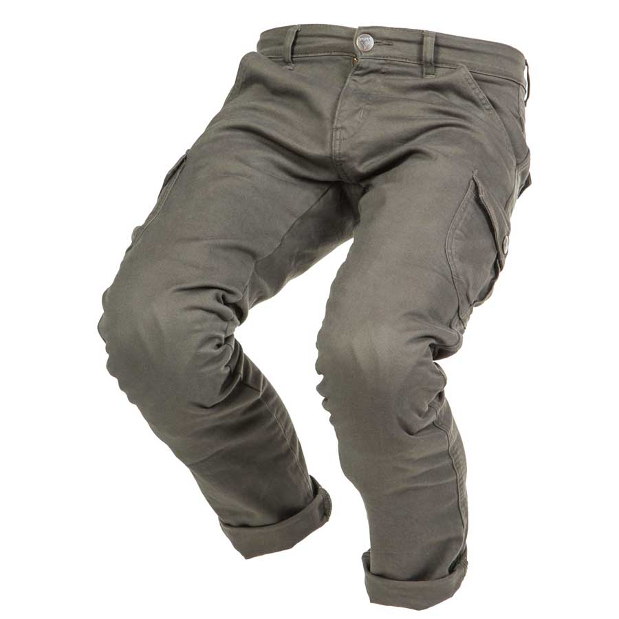 By City Mens Mixed Cargo Kevlar Motorcycle Pant