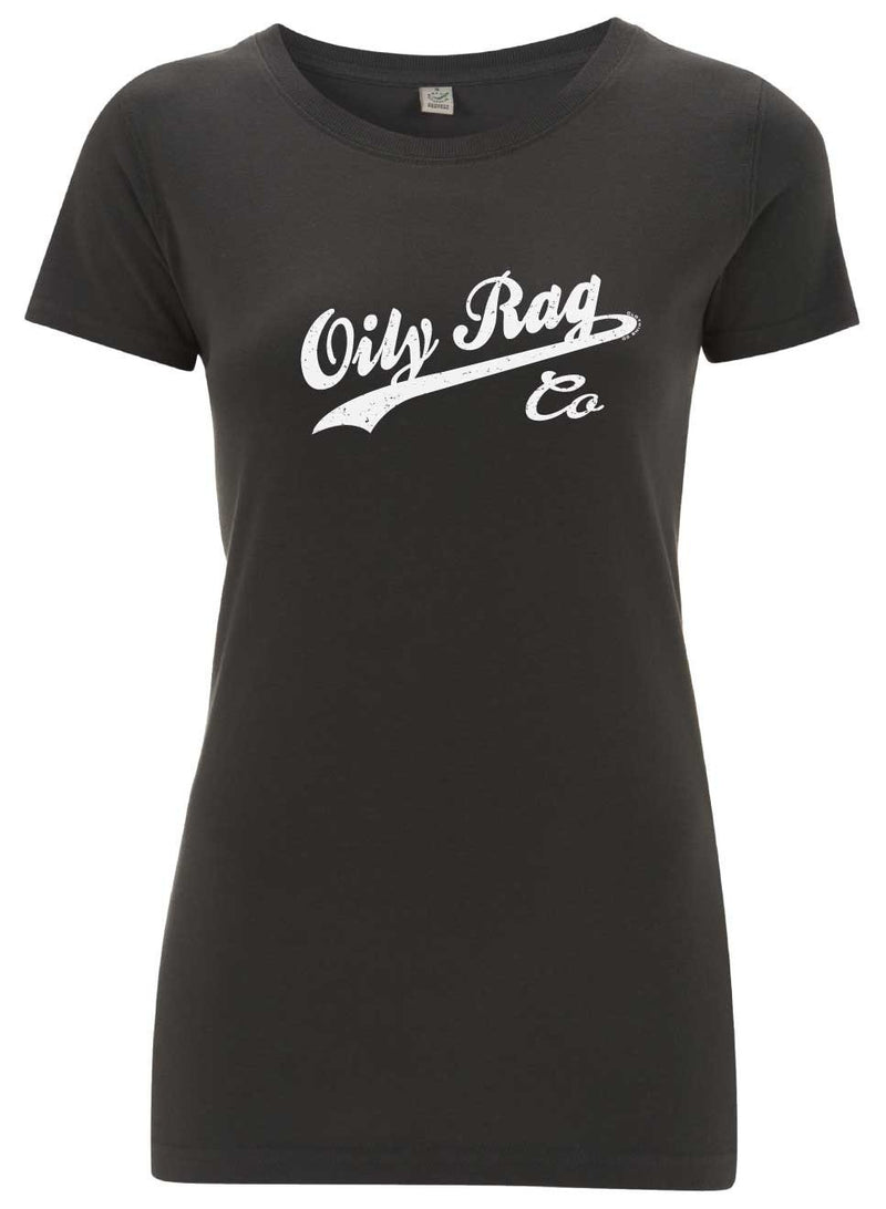 Oily Rag Co Ladies T'Shirt in Charcoal