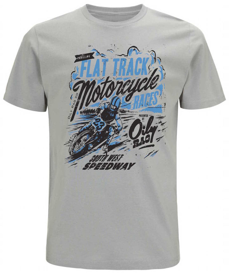 Oily Rag Clothing Flat Tracker retro t'shirt