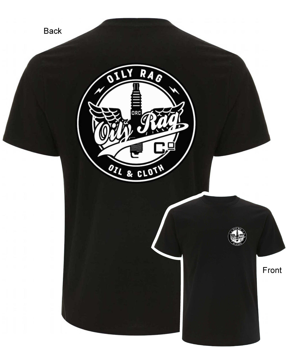 Oily Rag Clothing Oil and Cloth Works Team Motorcycle T'Shirt