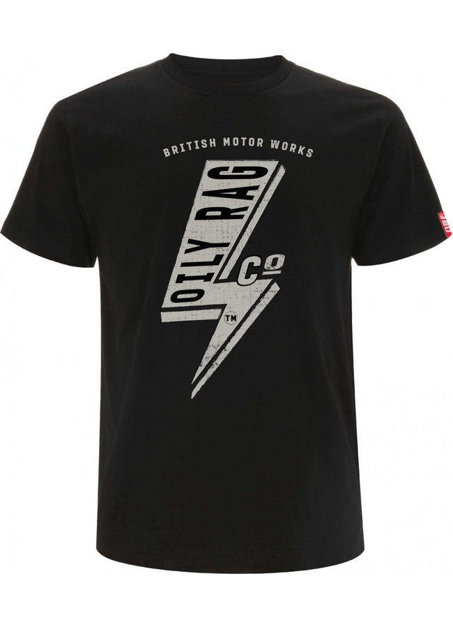 Oily Rag Clothing Black Label Electric design t'shirt