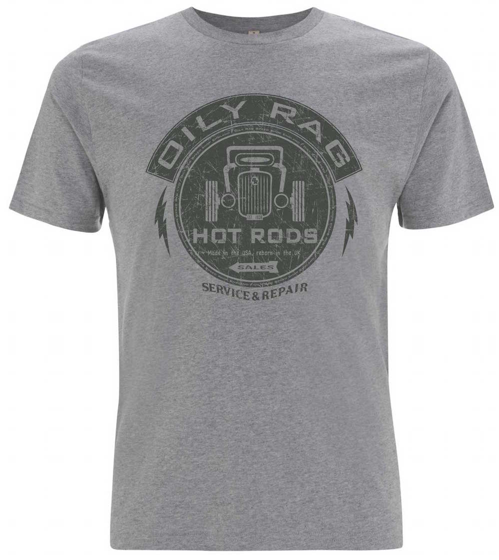 Oily Rag Clothing Hot Rod Garage retro t'shirt