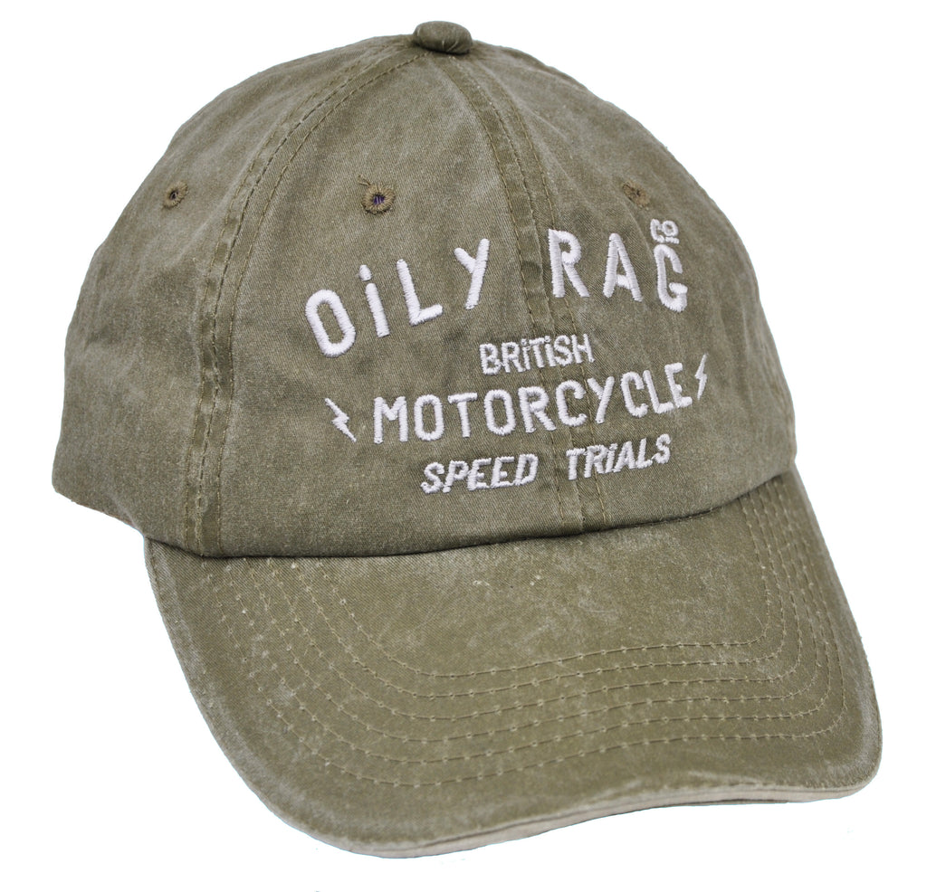 Oily Rag Clothing British Speed Trials retro style baseball cap