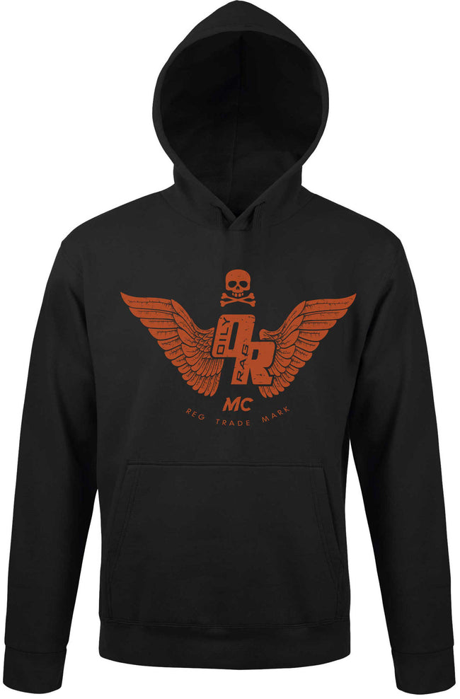 Oily Rag Clothing Black Motorcycle Club hoodie