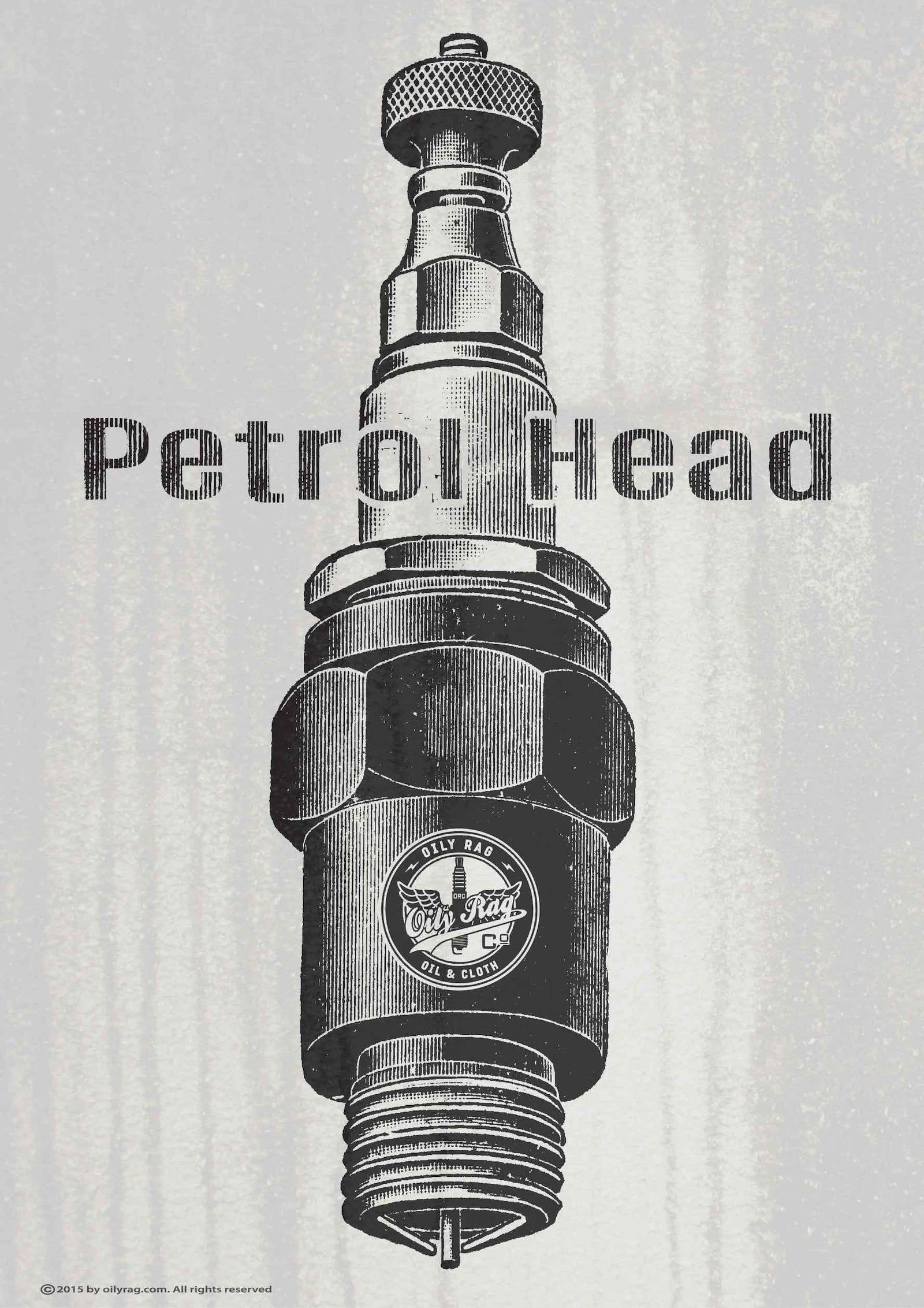 Oily Rag Clothing Piston Head retro motorcycle Alloy Sign