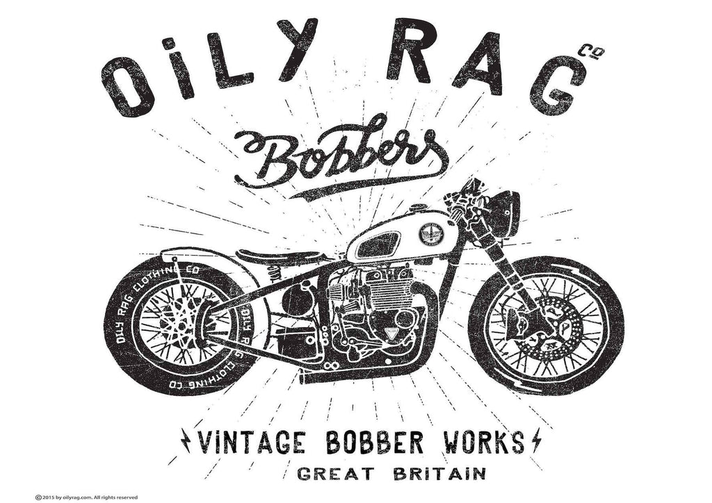 Oily Rag Clothing Bobber Works retro motorcycle Alloy Sign