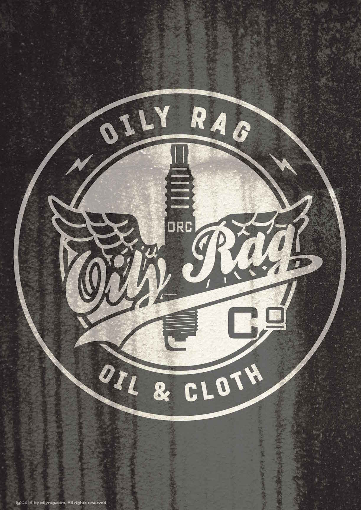 Oily Rag Clothing Oil and Cloth retro motorcycle alloy sign