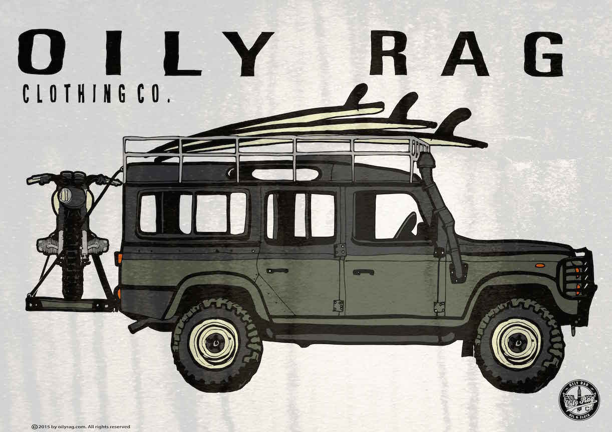 Oily Rag Clothing Landrover retro Alloy Sign