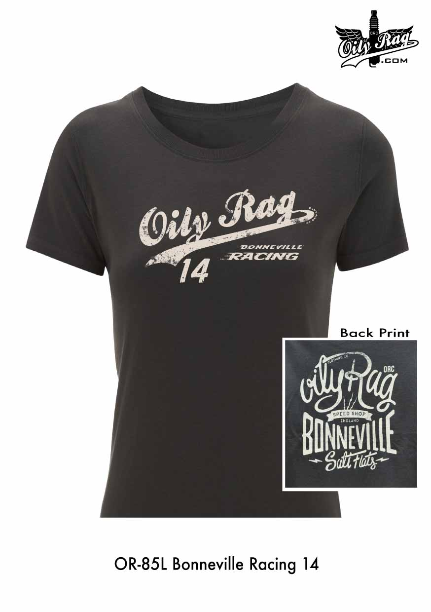 Oily Rag Clothing Ladies Bonneville Racing 14 t'shirt