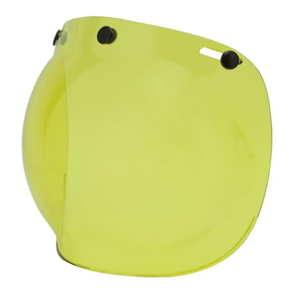 By City Two Strokes Helmets Yellow Bubble Visor