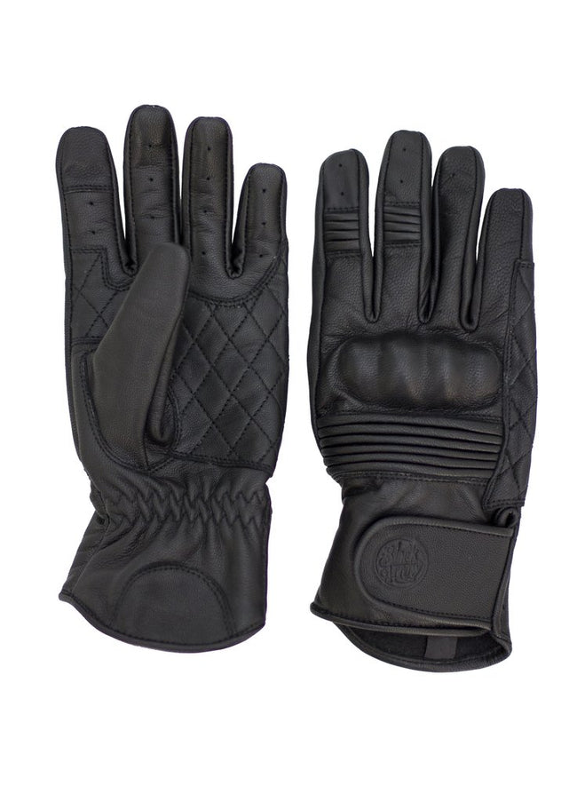 Black Arrow Queen Bee Leather Motorcycle Gloves