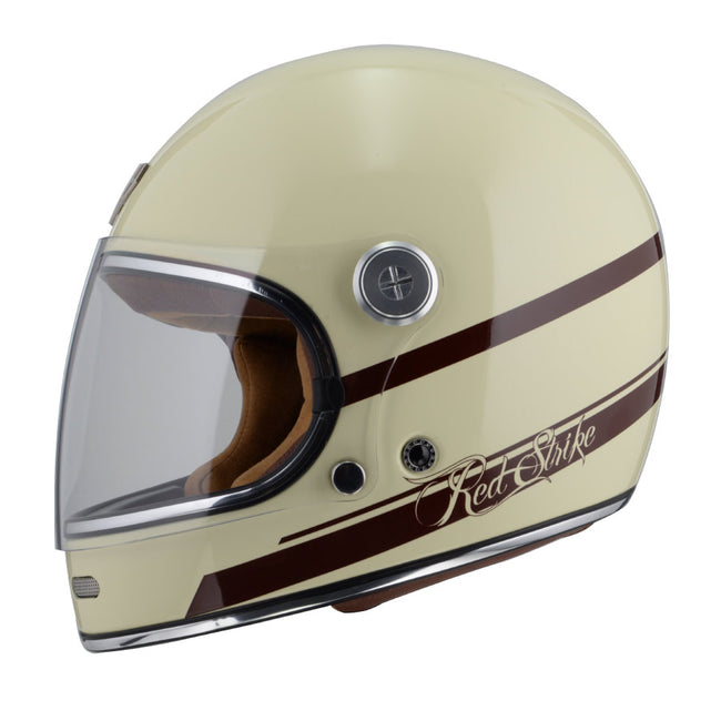 By City Roadster Red Strike Composite ECE approved full face retro Helmet