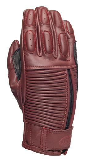 Roland Sands design Gezel Gloves in Oxblood