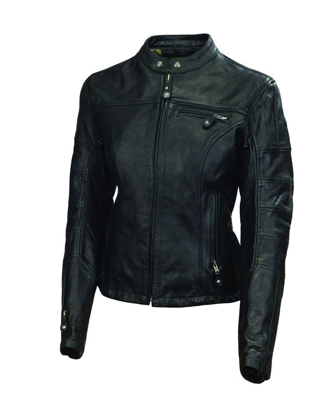 Roland Sands Design Maven motorcycle leather jacket in Black