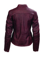 Roland Sands Design Maven motorcycle leather jacket in Oxblood