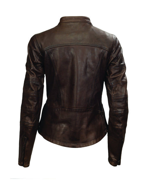 Roland Sands Design Maven motorcycle leather jacket in Tobacco