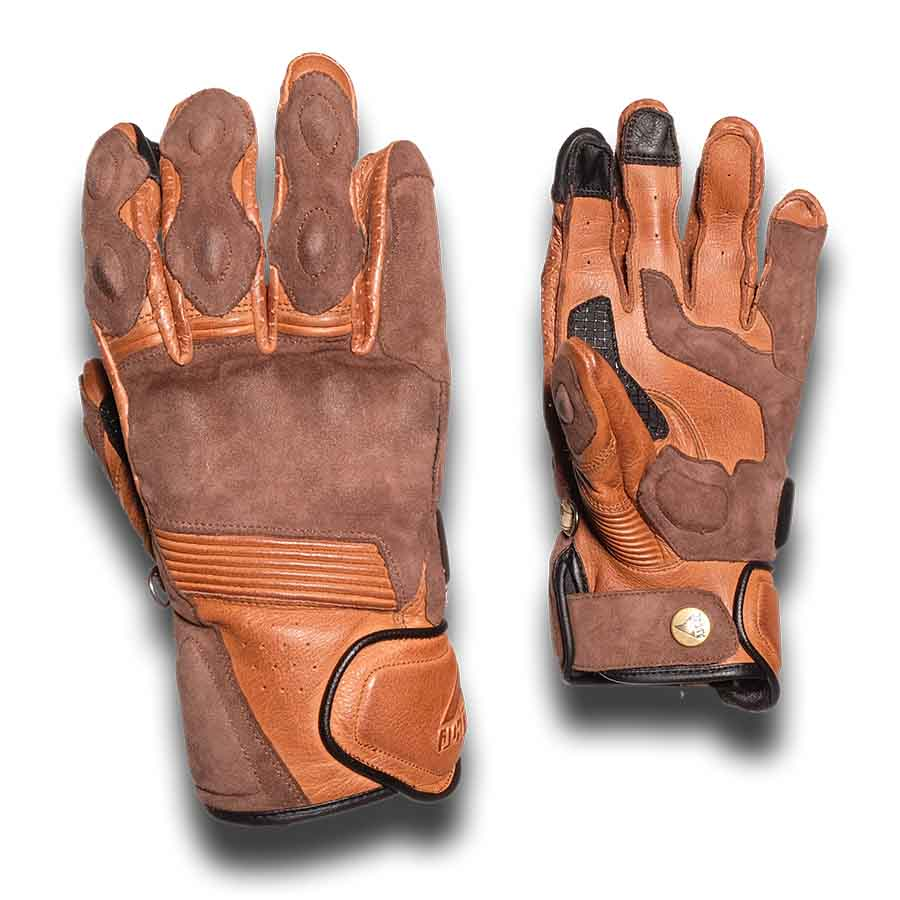 By City Mens Rider Leather Motorcycle Glove