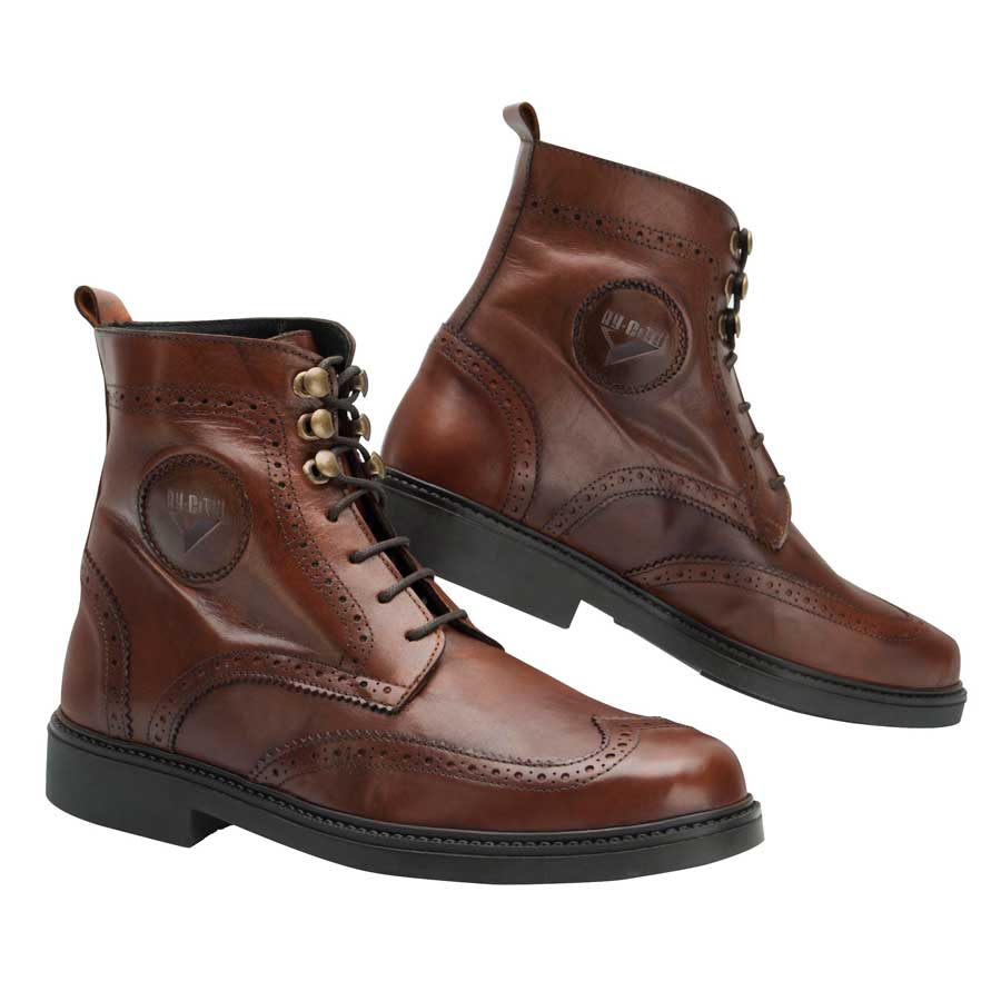 By City Safari Leather Motorcycle Boots