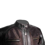 By City Mens Sahara Leather Mesh Textile Motorcycle Jacket