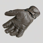 Garibaldi Smoke Vintage Brown Leather Motorcycle Gloves