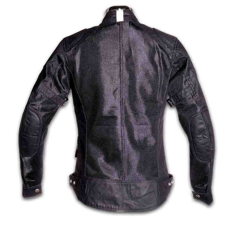 By City Ladies Teneree Venty II Waxed Cotton Mesh Motorcycle Jacket