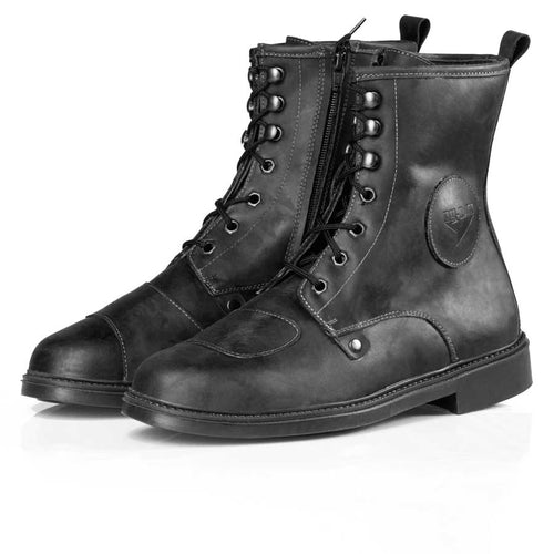 By City Troten Leather Motorcycle Boots