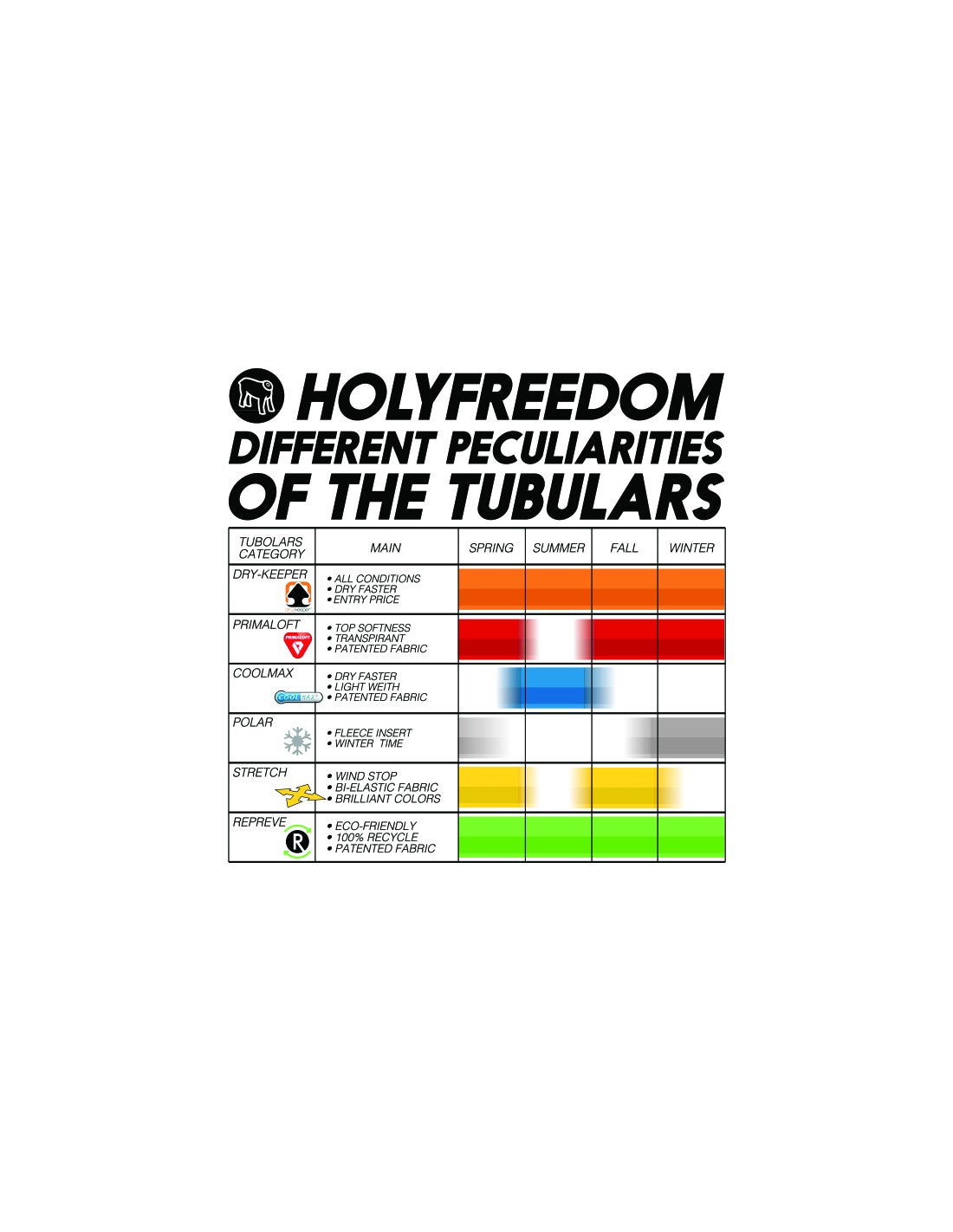 Holy Freedom bandana tube