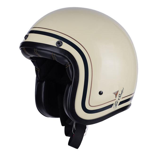 By City Two Strokes Fibre Resin Open Face Jet Retro Motorcycle Helmet
