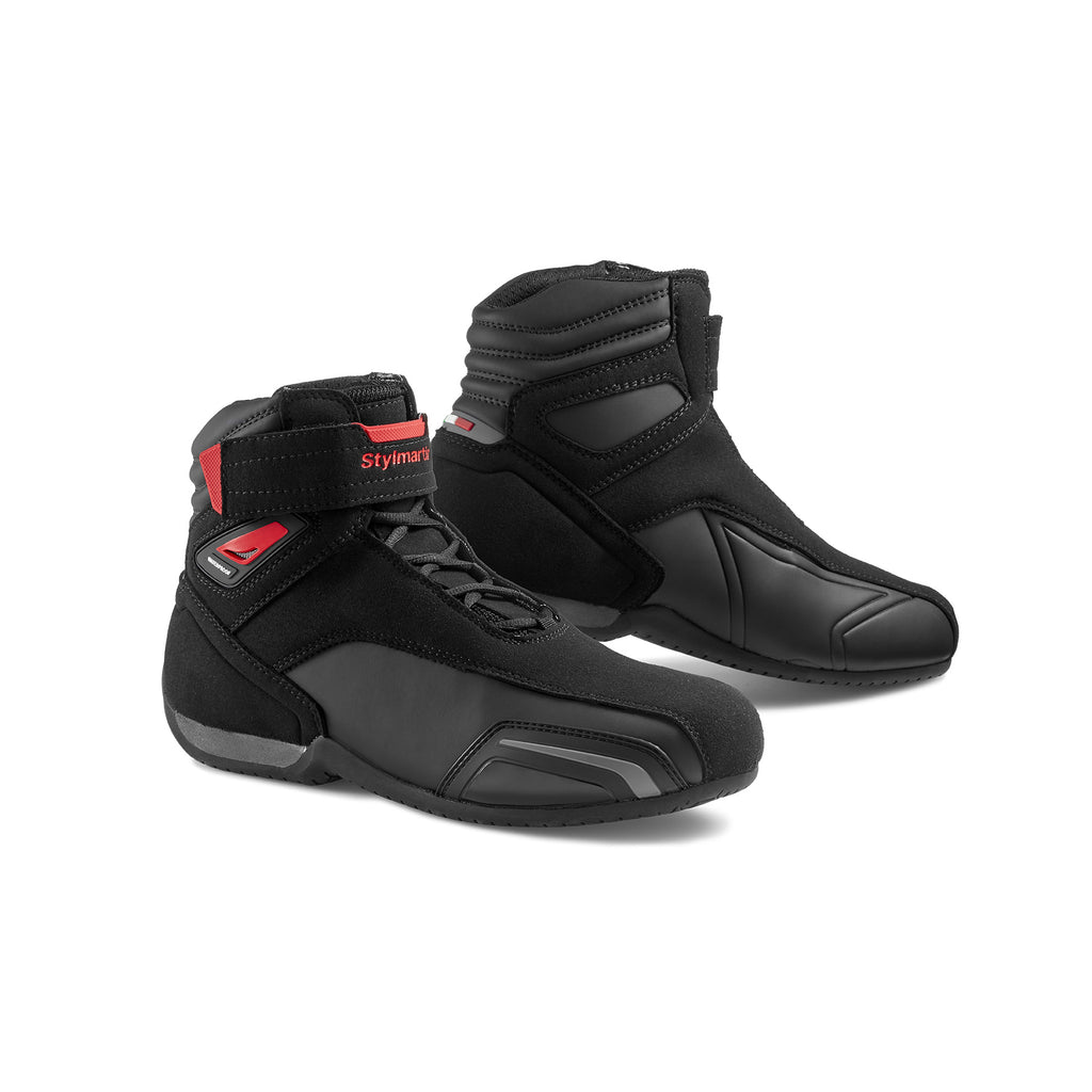 Stylmartin Vector WP Sport U Motorcycle Boot in Black and Red
