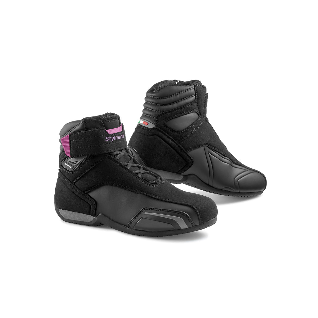 Stylmartin Vector WP Ladies Sport U Motorcycle Boot in Black and Purple