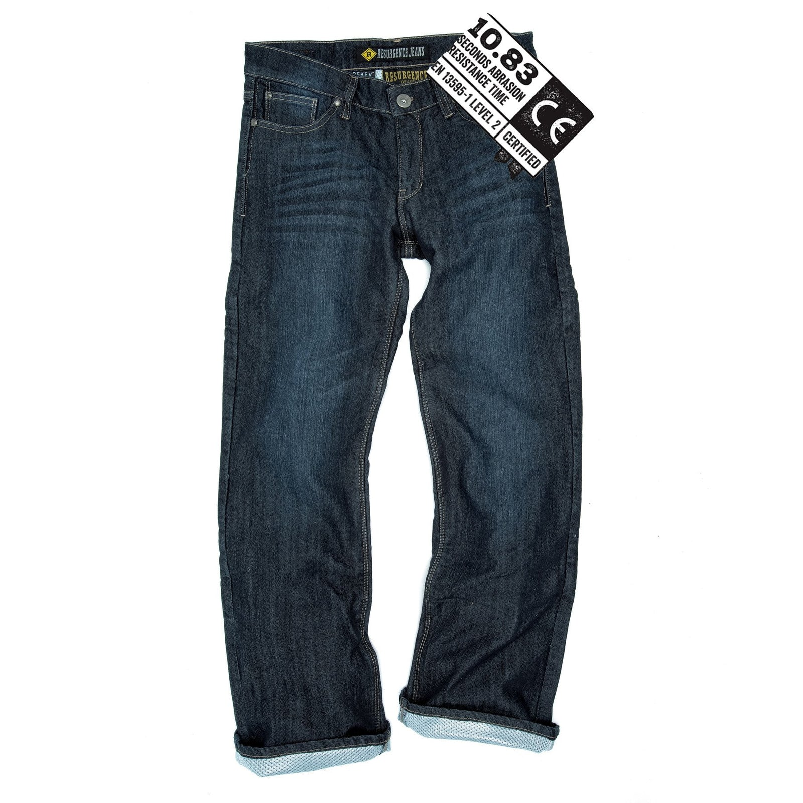 Ladies Voyager PEKEV motorbike jeans, safer alternative to Kevlar jeans